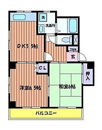 メゾンドカルムA[2階]の間取り