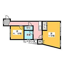 カヤノビル[3階]の間取り
