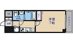 大阪府大阪市浪速区元町2丁目の賃貸マンションの間取り