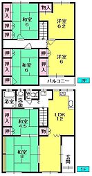 [テラスハウス] 大阪府堺市堺区昭和通3丁 の賃貸【/】の間取り