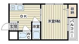 第5摂津ハイツ[102号室]の間取り