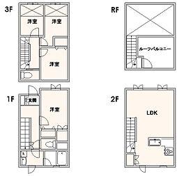 アルデ板付[1階]の間取り