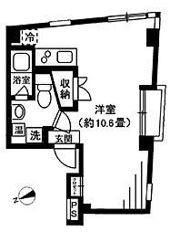 東京メトロ南北線 東大前駅 徒歩7分の賃貸マンション 2階ワンルームの間取り