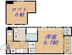 メゾンベルフルール[1階]の間取り