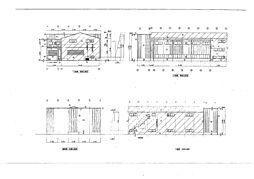 倉庫部分立面図