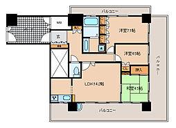 兵庫県神戸市長田区大橋町6丁目の賃貸マンションの間取り