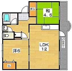 大黒マンション[1階]の間取り