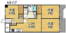 サンコーポラス南港26号棟[2階]の間取り