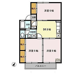 セジュールマロニエB[2階]の間取り
