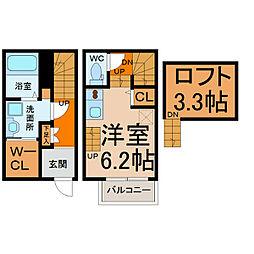 メゾン生駒町[106号室]の間取り