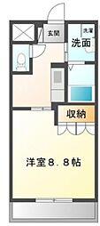 高松琴平電気鉄道琴平線 太田駅 徒歩9分の賃貸アパート 2階1Kの間取り