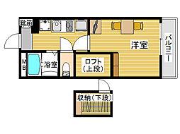 福岡県福岡市城南区茶山6丁目の賃貸マンションの間取り
