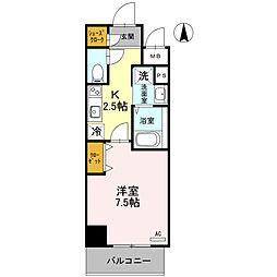 Osaka Metro御堂筋線 北花田駅 徒歩8分の賃貸マンション 4階1Kの間取り