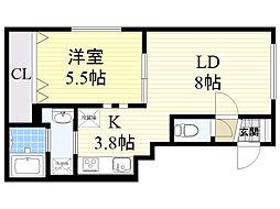 北海道札幌市東区北35条東14丁目の賃貸マンションの間取り
