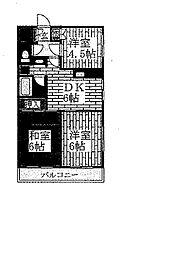 センチュリー武蔵野台[302号室]の間取り