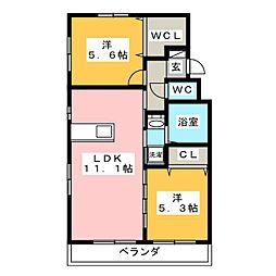 Style Y West[3階]の間取り