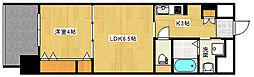 Le'confort 7階2Kの間取り