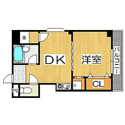 スカイコート堺[5階]の間取り