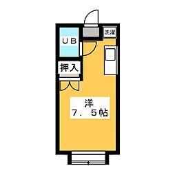 エステートピア山田[2階]の間取り