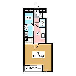 アンプルール リーブル コパン[1階]の間取り