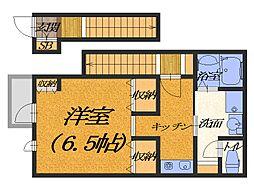 大阪府堺市堺区宿屋町東1丁の賃貸アパートの間取り