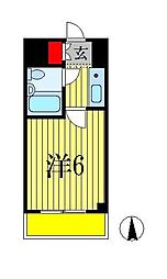 カスタリア船橋[2階]の間取り