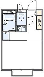 東京都足立区江北3丁目の賃貸アパートの間取り