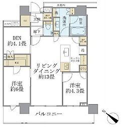 ブリリアザタワー東京八重洲アベニュー 14階3LDKの間取り