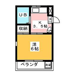 コテージTOKAI 中棟[2階]の間取り