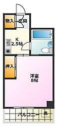第3マンション久米[501号室]の間取り