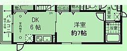 埼玉県さいたま市浦和区岸町の賃貸アパートの間取り