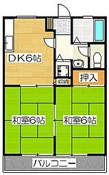 福元ハイツ[2階]の間取り