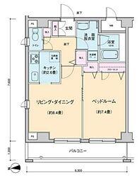 プロッシモ新宿[503号室号室]の間取り