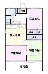 東京都八王子市暁町2丁目の賃貸アパートの間取り