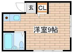 兵庫県神戸市須磨区行幸町1丁目の賃貸アパートの間取り
