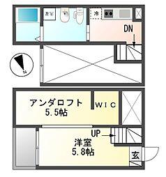 GradiusMiyoshi(グラディウスミヨシ)[2階]の間取り