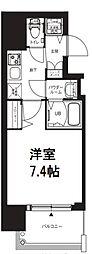 エグゼ堺筋本町 10階1Kの間取り