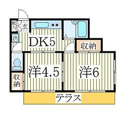クレール・マ・メゾンII[1階]の間取り