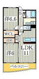 クレディアY・K[1階]の間取り