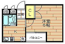 小松ビル[5階]の間取り