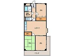 レジデンス安庵II[3階]の間取り