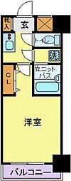 スカイコート浜松町[507号室]の間取り