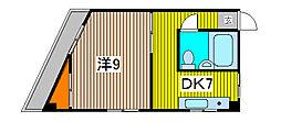 ハイグレ−ド南浦和[3階]の間取り