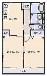 エルハイムA[2階]の間取り
