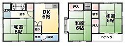 [一戸建] 愛媛県東温市志津川 の賃貸【/】の間取り
