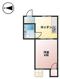 池田マンション[202号室]の間取り