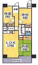 大阪府大阪市住之江区南加賀屋2丁目の賃貸マンションの間取り