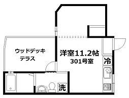 ミーナソルテ桜新町[3階]の間取り