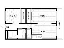 JR東海道本線 摂津本山駅 5階建[401号室]の間取り