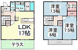 [テラスハウス] 長野県長野市平林1丁目 の賃貸【/】の間取り